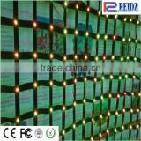 2015 good quality black fireproof velvet materials led mesh curtain / stage led video wall for concert