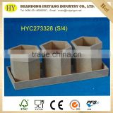wholesale custom desktop MDF wood pen holder