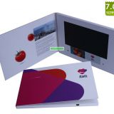 A5/A4 7 inch Softcover LCD video brochure, video book and video card for invitation,advertising or promotion