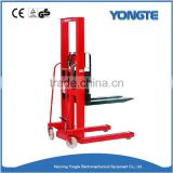 1 ton 2 ton capacity load manual stacker, hand pallet stacker