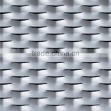 Expanded metal mesh for window
