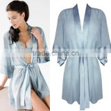 Fashion Sexy Womens Chinese Silk Robe OEM Service Silk Satin Front Open New Robes For Night Sleep Bath Spa Wear