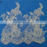 Fashion embroidery sequin and beads trimming lace sari border trim