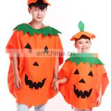2016 Hot selling Adult funny halloween pumpkin mascot costume pumpkin performance wear with hat