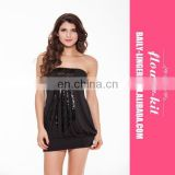 Hot !! New Fashion 2016 Women's fashion Sexy Black Shiny Clubwear Women Sexy Mini Dress
