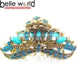 Elegant Europen Retro Big Alloy Rhinestone Jewel Hair Claw Clip