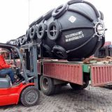 Big size Dia3.3m L6.5m pneumatic floating fender to India