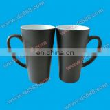 Heat sensitive color changing magic 17oz big cone-shape mugs with coating for sublimation printing