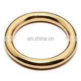Welded Solid brass O ring for handbag dog leash horse strap