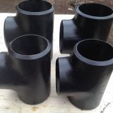 carbon steel ASME B16.9 pipe fitting seamless equal tee SCH40/STD
