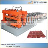 CNC Automatic Colored Coated Steel Glazing Step Tile Manufacturing Machine