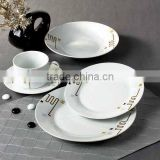 porcelain christmas dinnerware set china bone porcelain purple dinnerware with decal for gift