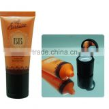 30mm Guangzhou Acryl cap cosmetic soft tube packaging,foundation packaging tube Liquid foundation plastic tube flip top cap