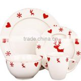 christmas decorative dinnerset with decalstoneware new product 2016 innovative hot sale product