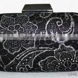 Floral Lace Satin Crystal Diamantes Evening Clutch Wedding Bridesmaid Bag Evening bags Party Prom box cluthes