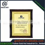 Wholessale price of aluminum foid sheet with wooden plaque frame