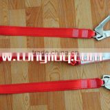 Shock absorber lanyard with double big hooks