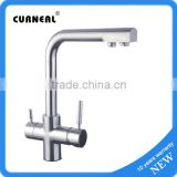 No.23610 Desk Mounted Chrome Palting Brass Kitchen Faucet, Health Water Drink Kitchen Mixer Faucet