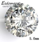 5.0mm Wholesale Esdomera White Color Moissanite Loose Stones Round Brilliant Cut Colorless Stone
