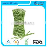 Disposable bamboo shape paper material drinking straws
