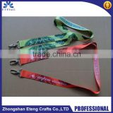 Promotion double hooks lanyard,custom printed lanyard with two hooks