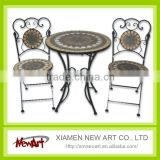 2016 Patio Mosaic Tile Metal Garden Table And Chair Cheap Outdoor Cast Iron Garden Furniture                                                                         Quality Choice