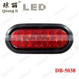 "waterproof long lifespan Red PC lens 12V oval 6"" LED stop turn tail light truck light"