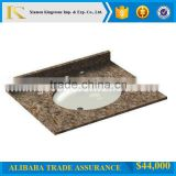 "factory price 31""*22"" yellow granite vanity tops Golden Sunset Granite G682 vanity tops for bathroom"