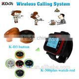 CE certification Print LOGO Long Range Wireless Restaurant Waitress Caller Guest Calling Pager System