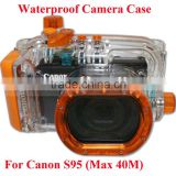 Waterproof Bag for Digital Canon S95 Camera, ABC glass Waterproof Camera Case Max 40M(130ft) Undersea, 1M Shockproof Hosing