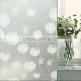 competitive protective PVC dandelion pattern film for window glassd bathroom ,home and office glass film with cheap price