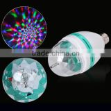 3W Plastic Energy Saving Head Rotating Led Decoration Disco Laser Light Bulb                                                                         Quality Choice