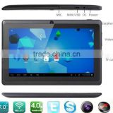 7 Inch Dual Core Android 4.4 Tablet PC with Bluetooth Dual Camera Q88 A23 cheapest Tablet