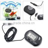 New Hot Sale Black Digital LCD Fish Tank Aquarium Water Terrarium Thermometer Free Battery With two Suction Cups