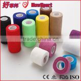 Cheap Medical Disposables Fixation Surgical Colorful Cohesive Elastic Skin Color Adhesive Bandage