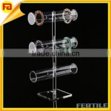 Acrylic transparent tube display racks bangle jewellery display stand