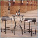 Rattan bistro chair and table in garden chairs aluminium garden chairs with 2 seats and round table JJBT-01TC