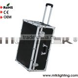 Mounteck Heavy Duty Road Transport Gig Ready DJ Wheeled Flight Case Black aluminum DJ flight case rack case