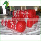Inflatable Long Red Cylindrical Buoys / Floating Life Buoy For Swimming Event