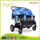 BS-49B 2016 europe new product high quality double baby stroller model and carrycot