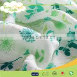 MS-02 100% cotton printed wholesale bamboo muslin fabric, printed muslin fabric