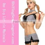 Sexy ladies 2pc Bikini Set Lingerie Lingerie Lingerie Bra G-string Mini Skirt
