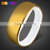 Gold Charming Bracelet Blue LED Red LED Light up led touch screen hand watch with 3ATM waterproof