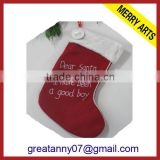 2015 new product gifts ladies bulk burlap christmas stockings with good quality