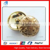 YX5748 Custom Metal Gold Plated Coat Buttons