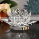 Crystal Lotus flower shape Candle Holder for Wedding Gift/virgin crystal wedding favors wholesale
