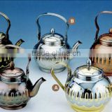 stainless steel hot pot 1.3L 1.6L 1.8L /arabic teapot/stainless steel arabic brass coffee pot