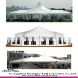 special design wedding event tent side wall with white pvc or white transparent windows or glass