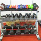 Powder Coated rubber hex Dumbbell Rack/ adjustable dumbbell rack/barbell rack