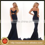 PS-16 Royal Blue Spaghetti Strap Evening Party Gowns 2016 New Fashion Design Intersecting Strap Corset Sexy Mermaid Prom Dress